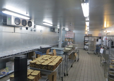 Inside Walk-in Cooler Meal Prep Area