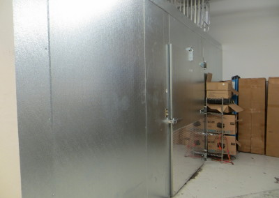 Rear Door to Walk-in Cooler/Storage Area
